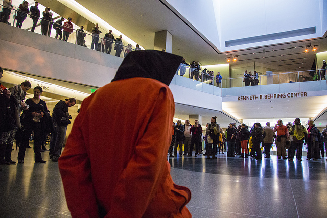 Protesters from Witness Against Torture occupied the lobby of the National Museum of American History this weekend. (© Witness Against Torture, via Flickr, used with permission)