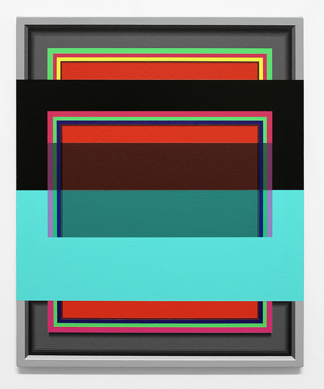 "Ruben Nusz, ""The Language of the Listening Eye"" (2013), acrylic on canvas, 22"" x 18"" (courtesy Weinstein Gallery)"