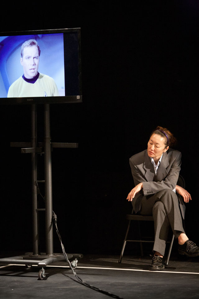 """Phil Soltanoff's """"An Evening With William Shatner Asterisk"""" (photo © Cecily Johnson)"""