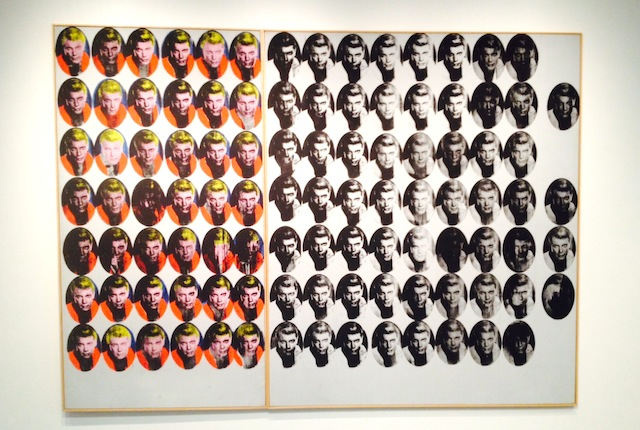 """Andy Warhol, """"Troy Diptych"""" (1962)."""