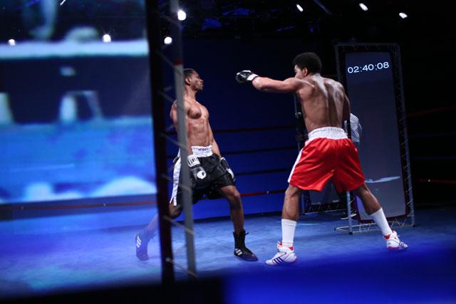 "Reid Farrington's ""Tyson vs. Ali"" (photo by Paula Court)"