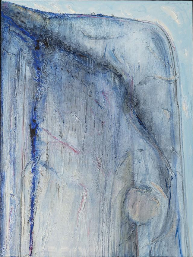 "Wayne Thiebaud, ""Boulder Ridge"" (2013), oil on canvas, 48 x 36 in."