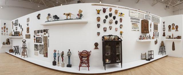 "Installation view, ""Ray Yoshida's Museum of Extraordinary Values"" at the John Michael Kohler Arts Center, 2013 (John Michael Kohler Arts Center Collection)"