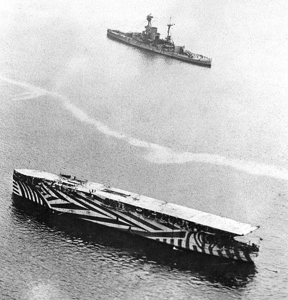 HMS Argus (1918) (via Wikimedia)