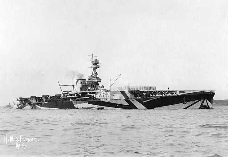 HMS Furious (1918) (via U.S. Naval Historical Center)