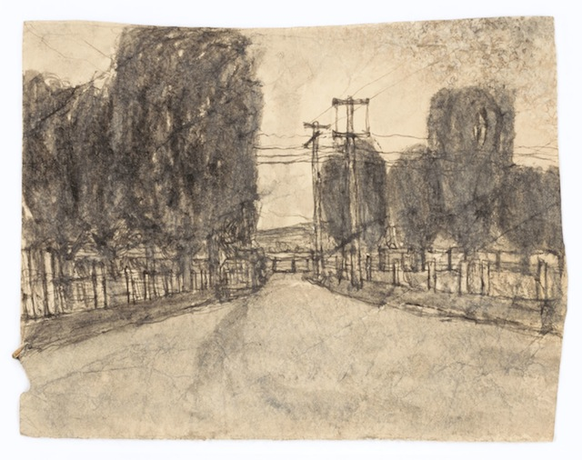 """James Castle, """"Untitled,"""" found paper and soot, 7 1/2 x 10 (Smithsonian American Art Museum Gift of the James Castle Collection and Archive and museum purchase through the Luisita L. and Franz H. Denghausen Endowment)"""