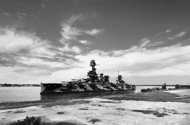 """Thomas Bangsted, """"USS Texas (Measure 12 – modified)"""" (2012-2014), pigment print, 63.5 x 96 inches"""