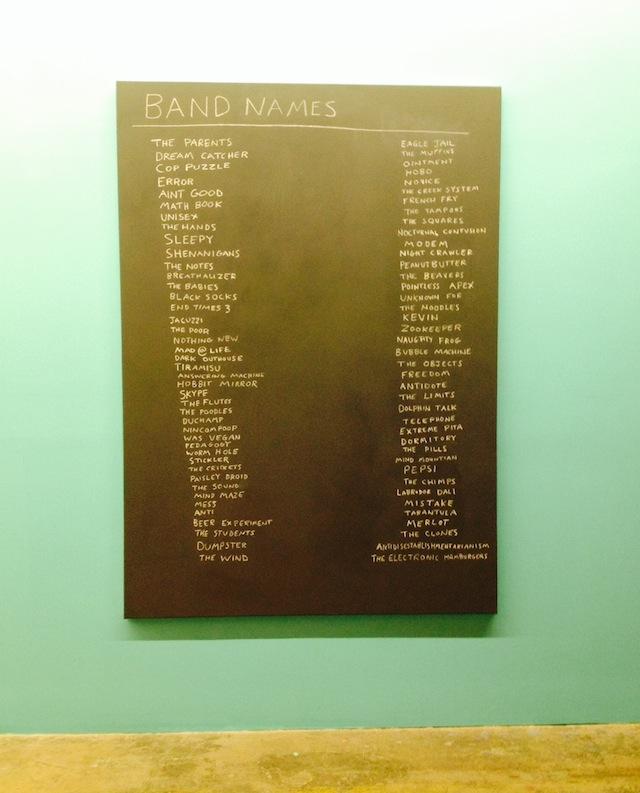 "Scott Reeder, ""Band Names"" (2014)"