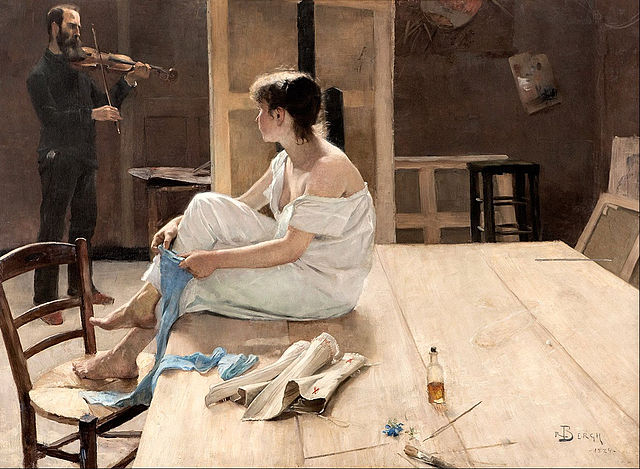 "Richard Bergh, ""After the Sitting"" (1884), oil on canvas (via Malö Konstmuseum/Google Art Project)"