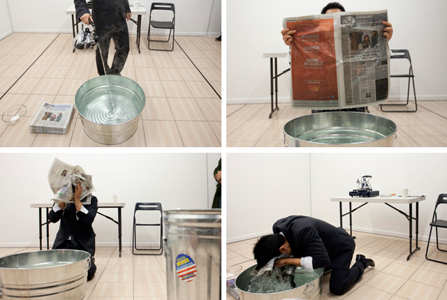 """Miao Jiaxin, """"News"""" (December 31st, 2013) at OUTLET Fine Art (All photos by Yijun Liao and Takahiro Morooka)"""