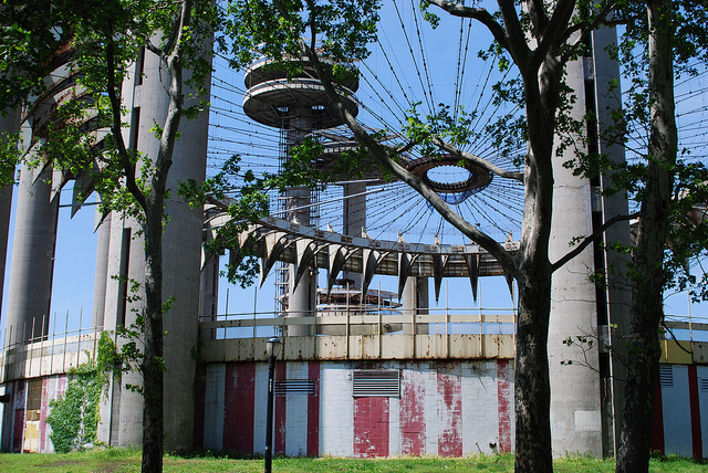 The New York State Pavilion (photograph by Thomas Angermann, via Flickr)