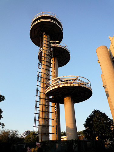Observation towers at the pavilion (photograph by Jason Eppink, via Flickr)