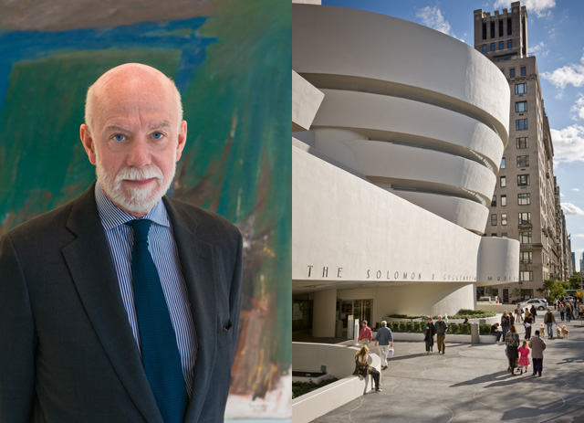Left, Richard Armstrong Director, Solomon R. Guggenheim Museum and Foundation (Photo: David M. Heald © The Solomon R. Guggenheim Foundation, New York, 2012), and, right,  the Solomon R. Guggenheim Museum (Photograph by David Heald © The Solomon R. Guggenheim Foundation, New York)