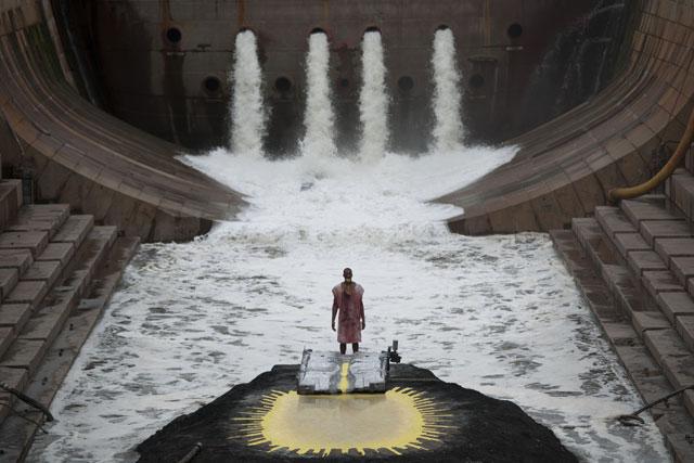 "Matthew Barney and Jonathan Bepler, ""River of Fundament: BA"" (2014),  production still (photo: Hugo Glendinning) (© Matthew Barney)"