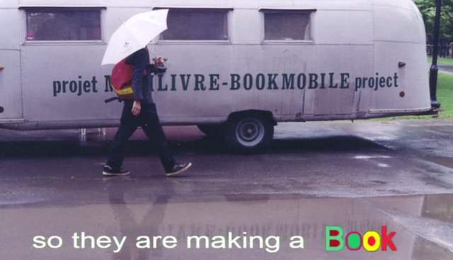 Screengrab from the BOOKMOBILE BOOK project Kickstarter video.