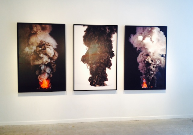 """Kevin Cooley, """"Controlled Burn #1,"""" """"Controlled Burn #3"""" and """"Controlled Burn #7), all 2013"""