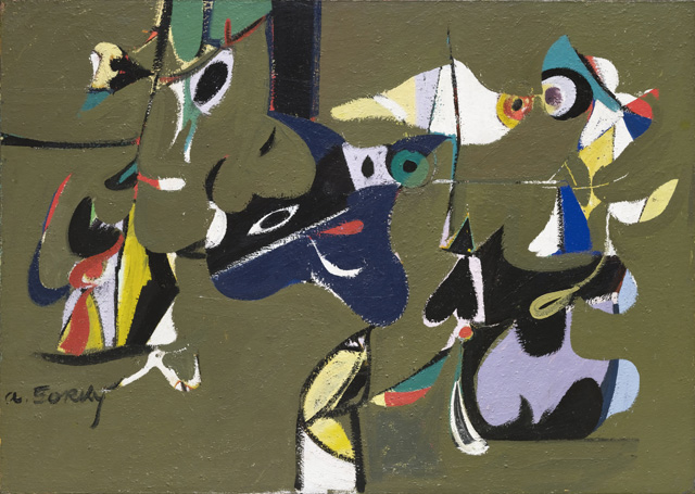 """Arshile Gorky. Garden in Sochi. 1941. Oil on canvas, 44 1/4 x 62 1/4"""" (112.4 x 158.1 cm). © 2014 Estate of Arshile Gorky / Artists Rights Society (ARS), New York"""