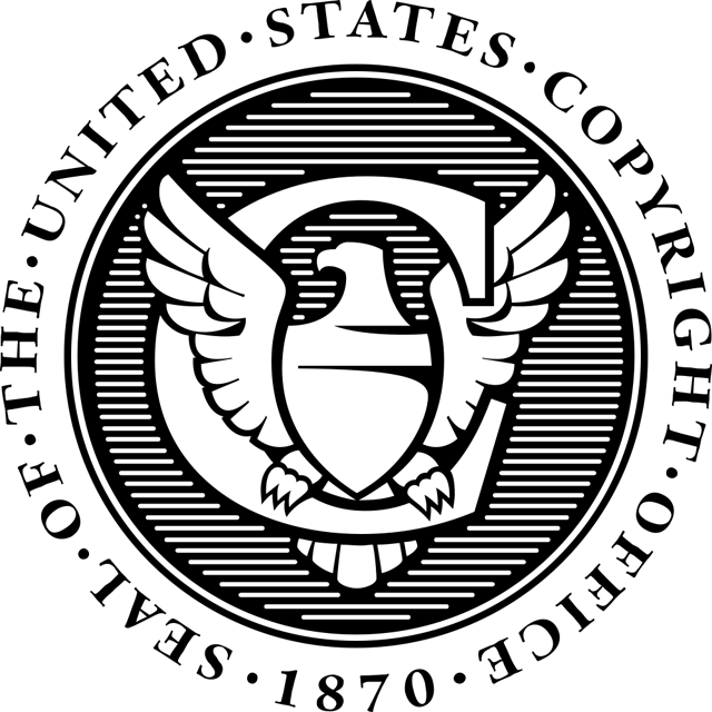 The seal of the US Copyright Office (via Wikimedia)