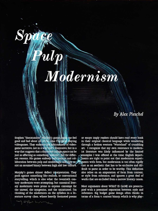 """""""Space Pulp Modernism"""" article in """"The Arcade Review"""""""