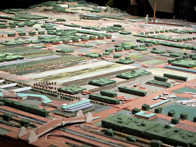 Broadacre City model