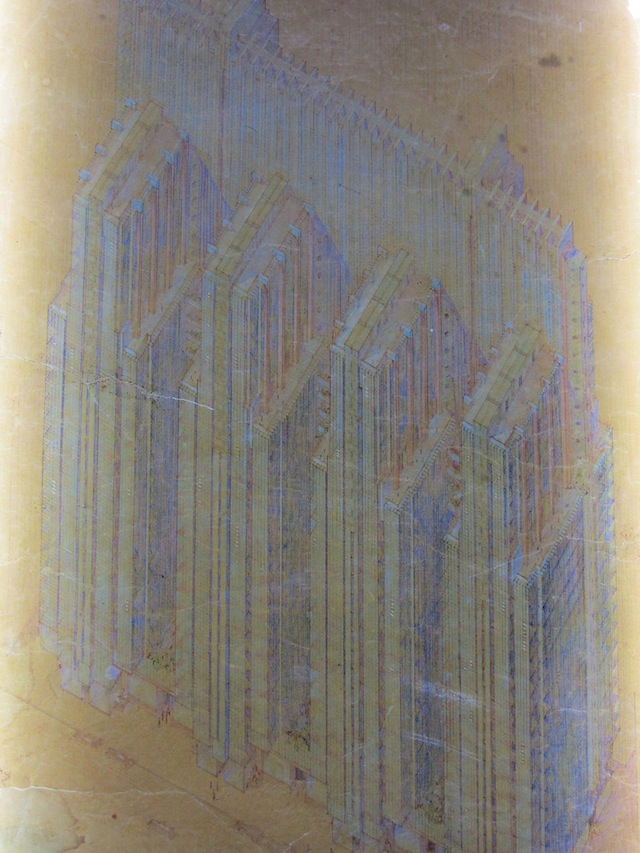 National Life Insurance Building Company, Chicago (1924-25_, colored pencil on tracing paper