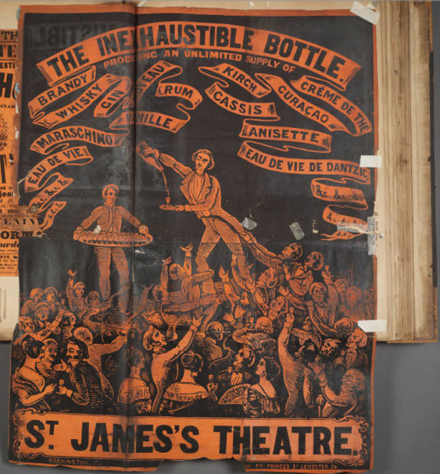"""""""The Inexhaustible Bottle"""" in Houdini's """"Magicians scrapbook"""" (1821–1939). Greatest trick of all time? (click to enlarge)"""