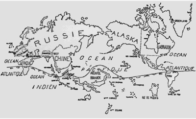 The Surrealist map of the world in 1926.