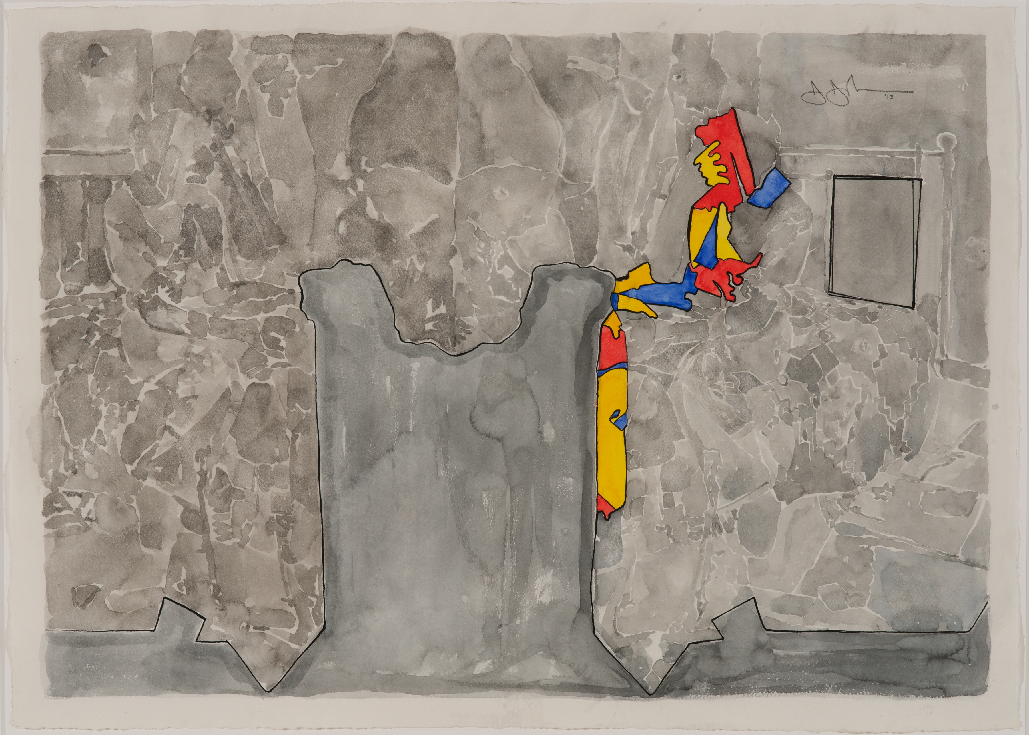 Contemporary Line Drawing Artists : First look new work by jasper johns