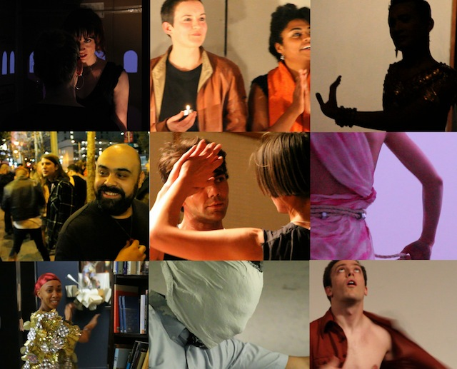 NS Collage of a selection stills from our performance series: Pictured From upper left to right: Amanda Yates, Meg Wolfe and Anna B. Scott, Prumsodun Ok, Nacho Nava, Nick Duran and Jmy James Kidd, Amanda Furches, Jahanna Blunt, Rafa Esparza and Nathan Bockelman. All graphic design images by Tanya Rubbak.All images courtesy of Native Strategies.