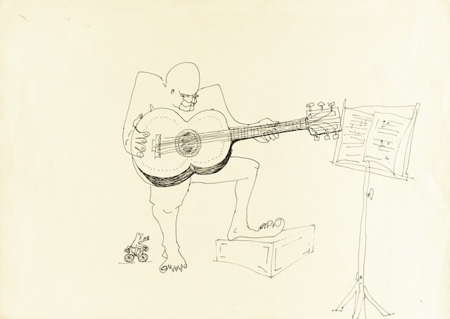 9156 four-eyed guitar player