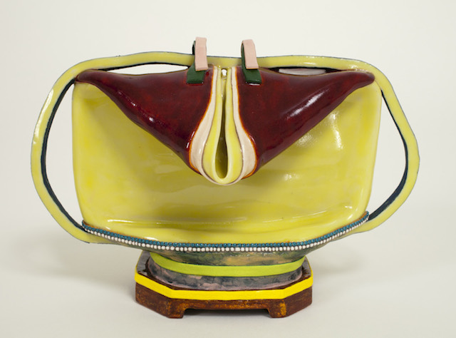 Butterly, Scout, 2013, clay, glaze, 3 7_8 x 5 ¾ x 3 7_8 inches