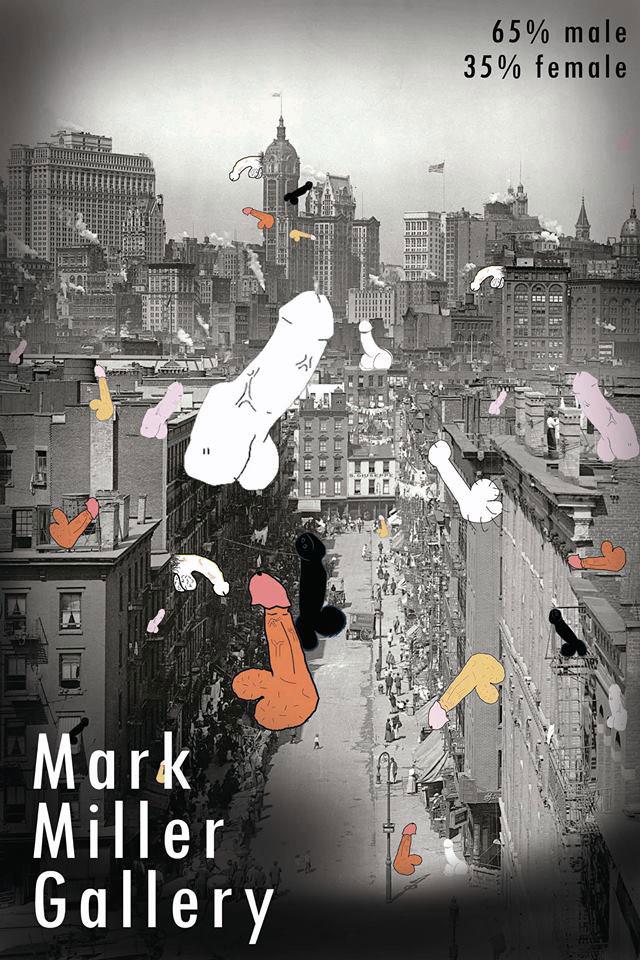 Evan Senn's poster for Mark Miller Gallery (click to enlarge)