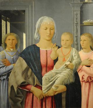 Piero della Francesca Madonna di Senigallia senza cornice