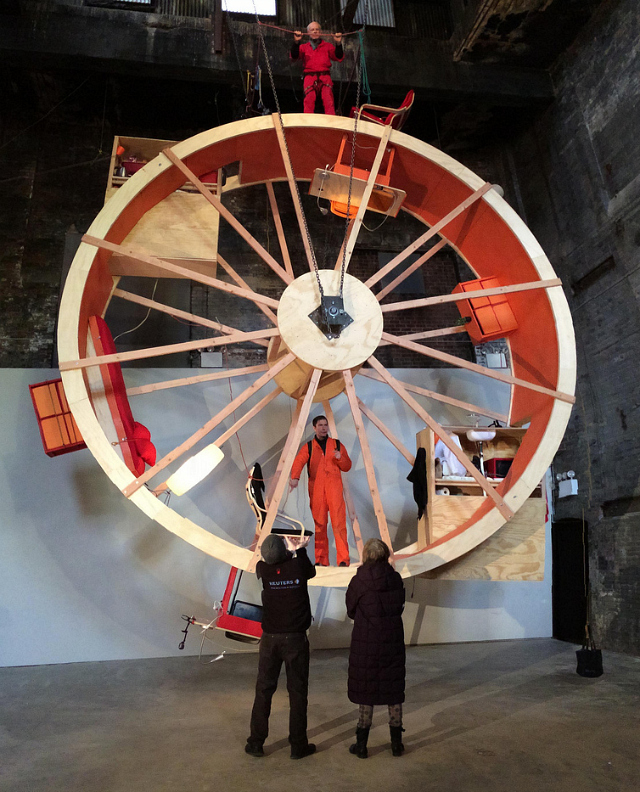 """Ward Shelley and Alex Schweder's """"In Orbit"""" at The Boiler"""