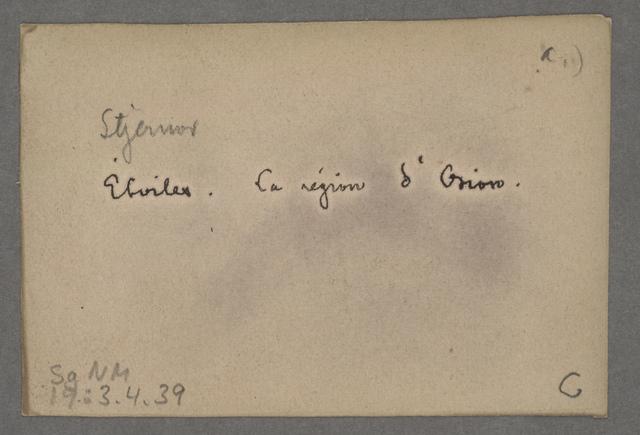 "August Strindberg, back of ""Celestograph VIII"" (1893-94)"