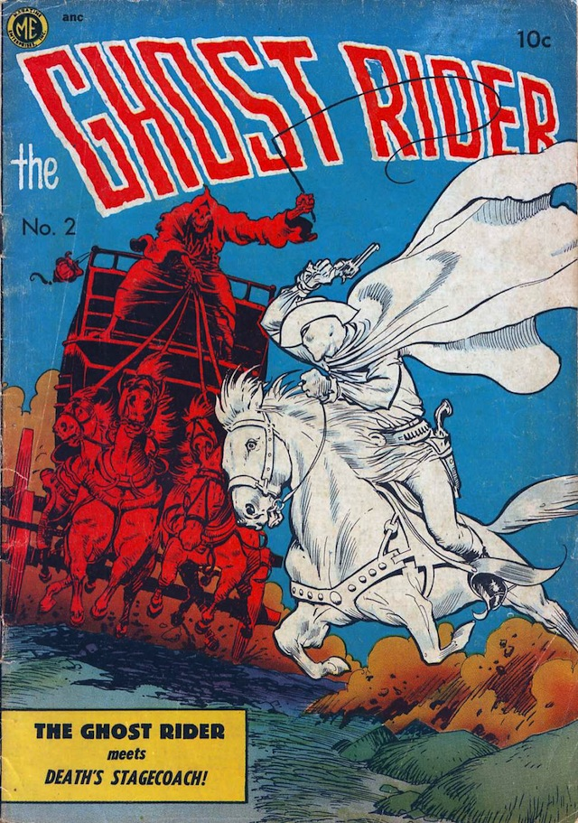 The Ghost Rider #2: The Ghost Rider meets Death's Stagecoach! (via Comic Book Plus)