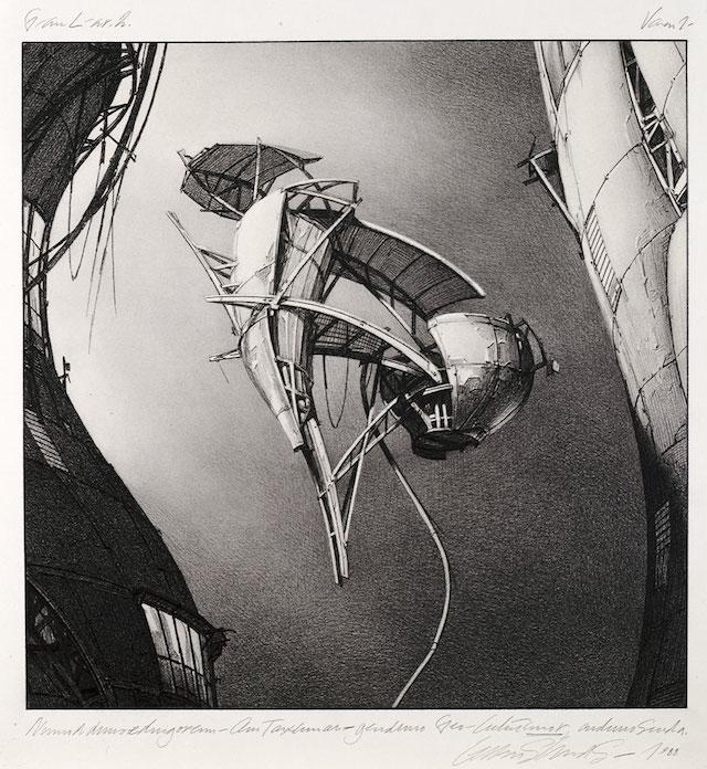"Lebbeus Woods, ""Photon Kite"" (1988) (via drawingcenter.org)"