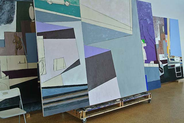Bruce McLean, Some Cardboard Caro Cards with Henry plus Henry Barry Henry Barry and Constantin (2010)