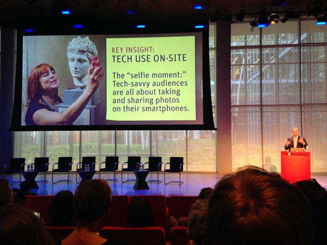 Arthur Cohen presenting the findings of Culture Track 2014 (all photos by the author for Hyperallergic)