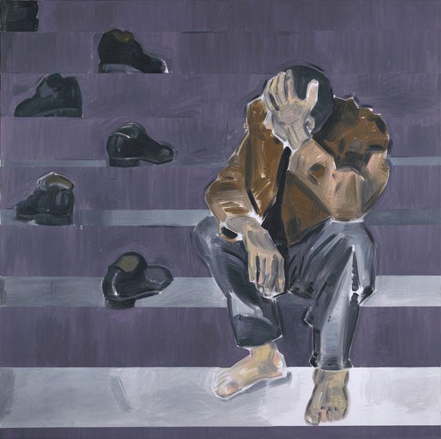 "Apostolos Georgiou, ""Untitled"" (2009), acrylic on canvas, 150 x 150 cm (all images courtesy the artist)"