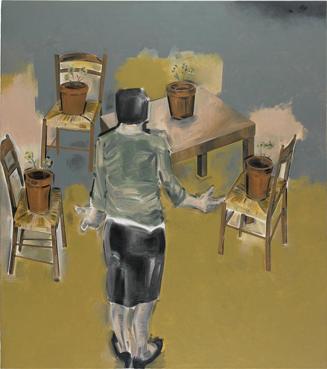 "Apostolos Georgiou, ""Untitled"" (2006), acrylic on canvas, 270 x 230 cm"