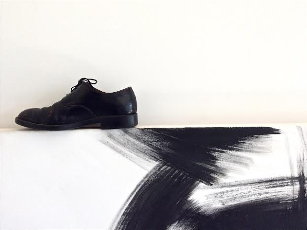 Apostolos Georgiou's shoe