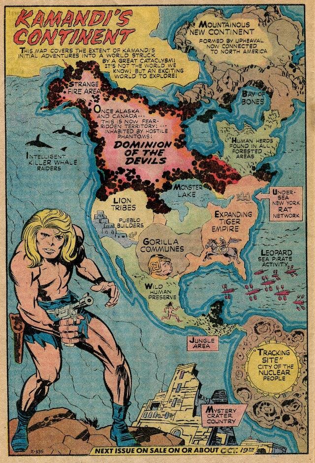 """Jack Kirby, """"Kamandi's Continent"""" from 'Kamandi #1' (1972)"""