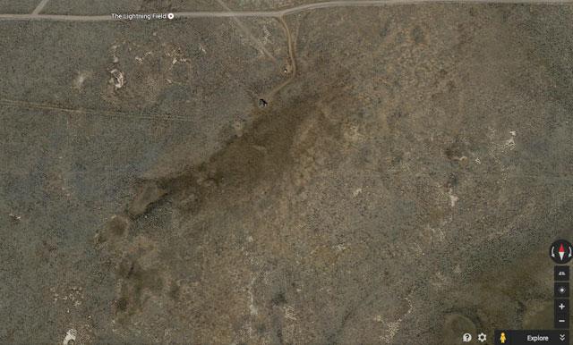 "Walter De Maria's ""Lightning Field"" in Google Earth"