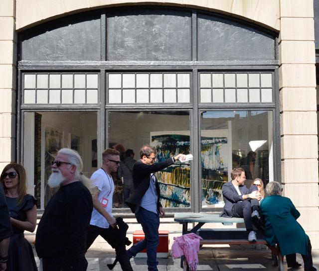 Outside view of Mariah Robertson's work at M+B