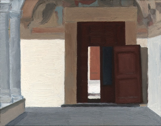 """Eleanor Ray, """"San Marco"""" (2013), oil on panel, 5 7/16 x 7 in (image courtesy Steven Harvey Fine Arts Projects) (click to enlarge)"""