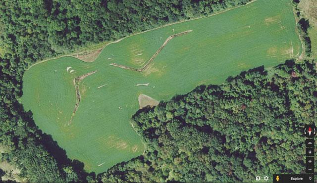 """Richard Serra's """"Shift"""" in Google Earth"""