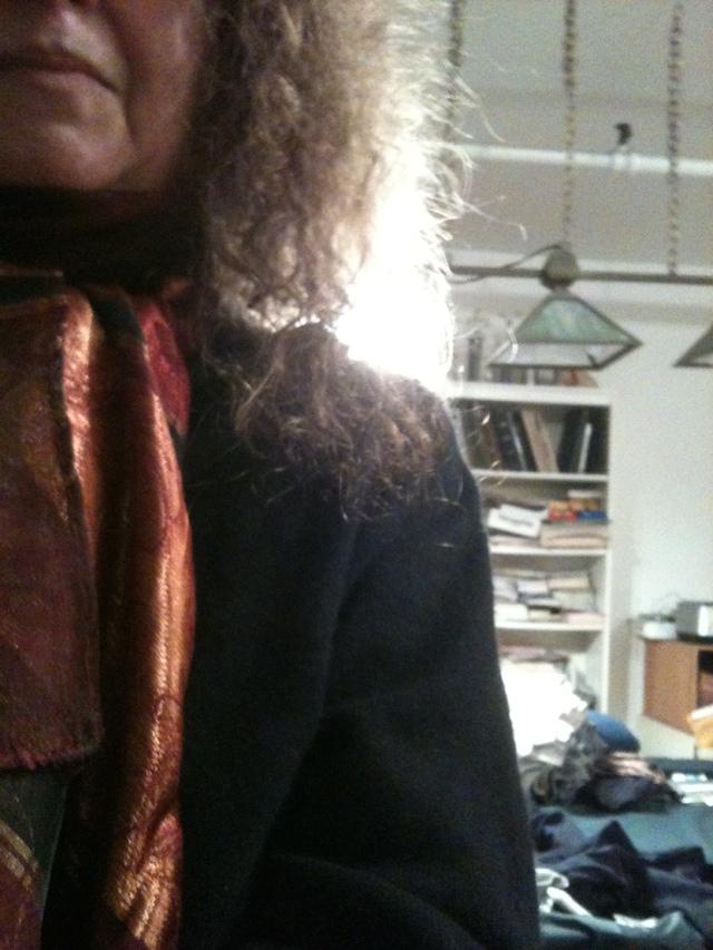 Betty Tompkins' selfie