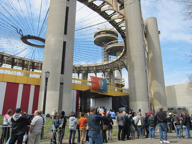 Lines outside the New York State Pavilion