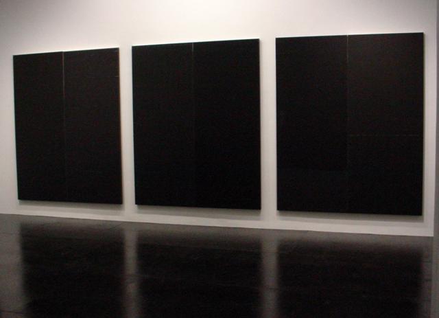 "three Wade Guyton ""untitled"" (2014)"